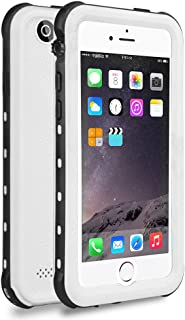 iPhone 5S / SE Waterproof Case, Waterproof Dust Proof Snow Proof Shock Proof Case with Touched Transparent Screen Protector, Heavy Duty Protective Carrying Cover Case for iPhone 5 5s SE (T-White)
