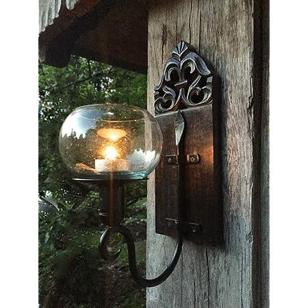 SIDCO Wand Laterne H/änge Kerzenhalter Wandlaterne Metall Leuchte Nostalgie Shabby
