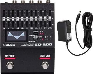 Boss EQ-200 Graphic Equalizer with PigHog PP9V Pig Power 9V DC 1000ma Power Supply