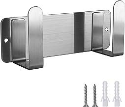 MengH-SHOP Deksel van roestvrij staal, voor organizer van pannendeksel, wandmontage, zelfklevend, deksel voor pot, praktis...