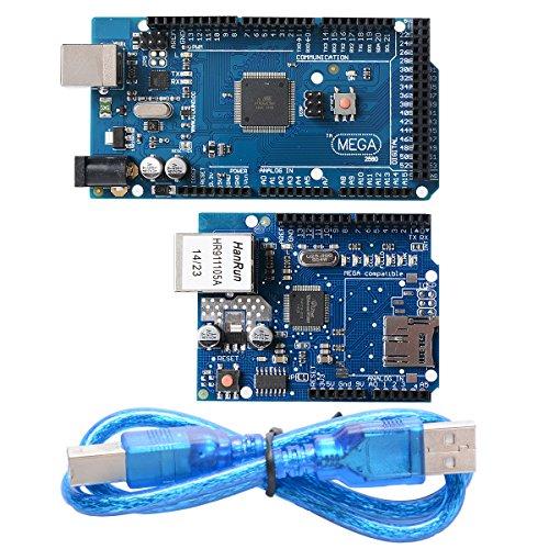 Xcsource ATMEGA2560-16AU ATMEGA16U2Board + Ethernet Shield W5100network expansion TE168