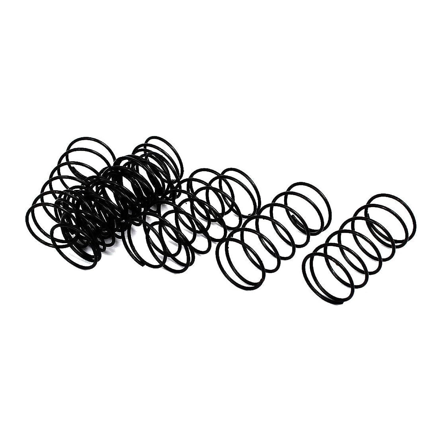 事故意義方法uxcell 圧縮ばね 圧縮スプリング スプリングスチール ワイヤースプリングス 1.2mm径 20mm外径 40mm長さ ブラック 10個入り