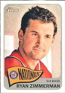 2014 Topps Heritage #469 Ryan Zimmerman Nationals MLB Baseball Card (SP - Short Print) NM-MT