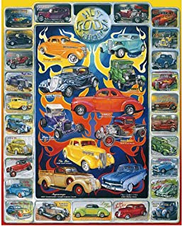 White Mountain Puzzles Hot Rods