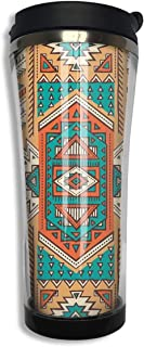 , Ethnic Aztec Secret Tribe Pattern Double Insulated Coffee Cup 420ml, Personalized Custom Travel Coffee Cup, Sports Cup Good for Insulation and Keep Ice,304 Stainless Steel