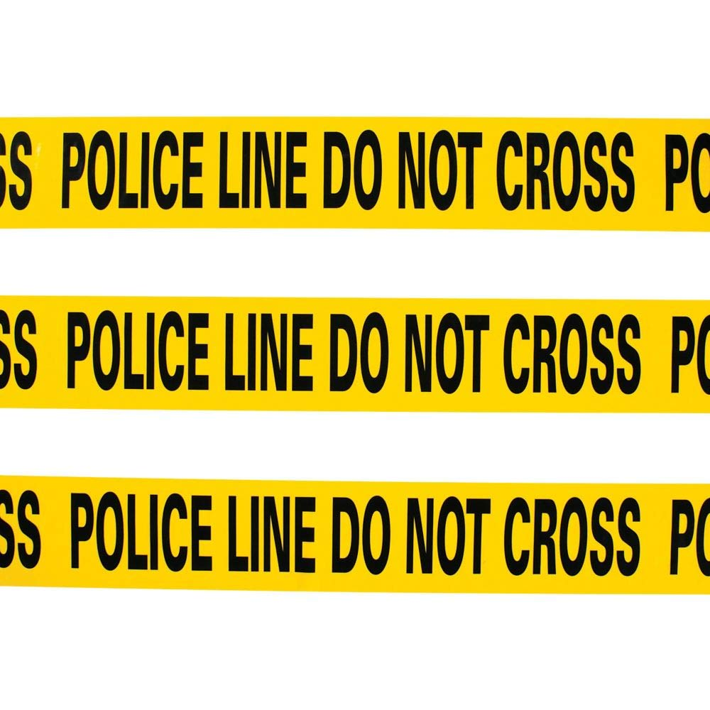 Amazon Com Yellow Police Line Do Not Cross Crime Scene Caution Tape 20 Foot Roll Halloween Decor And Cops And Robbers Party Supplies Kitchen Dining