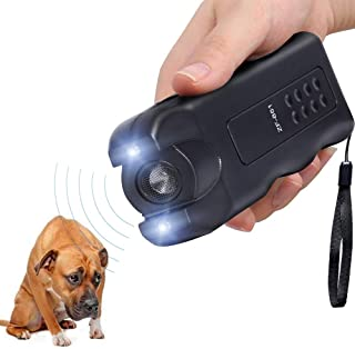 HAPPEEY Handheld Dog Repeller,Pet Dog Trainer with LED Flashlight, Ultrasonic Deterrent Device for Your Safety and Train Your Dog