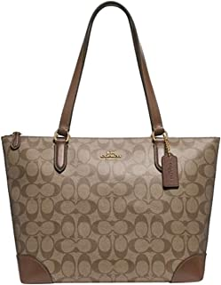 Women's Outline Signature Zip Tote