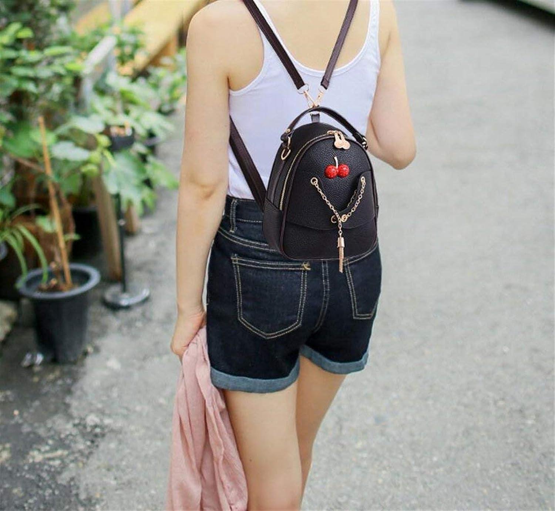 YUHUS Home Persönlichkeit Rucksäcke Einfache Einfache Einfache Stil Damen Tasche Mode Umhängetasche Rucksack Reißverschluss Rucksack (Farbe   schwarz) B07L1TBCF6  Neues Design b23751