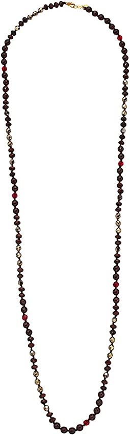 Chan Luu - 18 Karat Gold Plated Elongated Necklace with Semi Precious Stones