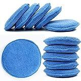 WINOMO Car Wax Sponge Waxing Polish Wax Foam Sponge Applicator Pads Cars Vehicle Glass Clean (10PCS/Set)