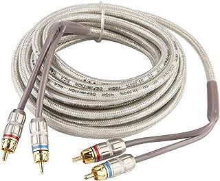 Cabo de áudio para carro fofo rádio estéreo doméstico auxiliar Rca sinal cabo 5 m amplificador subwoofer cabo adaptador de...