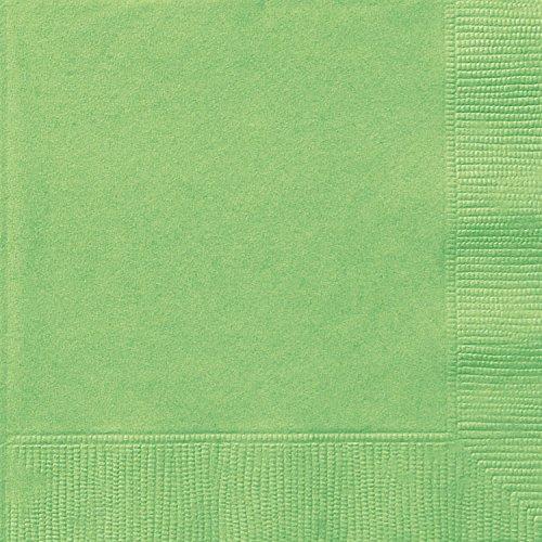 Papierservietten - 16,5 cm - Lindgrün - Packung mit 20 Stück