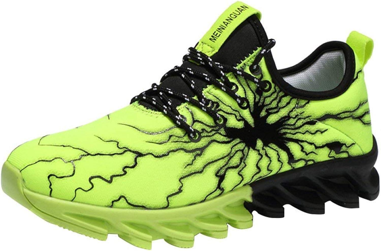 Sommer Herrenschuhe Trend Laufschuhe Laufschuhe Laufschuhe Sportschuhe Mesh Schuhe Herren Messer Schuhe, Herren Sportschuhe (Farbe   YZ5fruitGrün, Größe   36) 5aa5d9