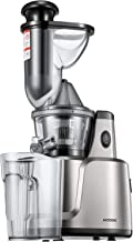 Juicer Machines, Aicook Slow Masticating Juice Extractor Easy to Clean, 3FiltersforFruits,Vegs,BabyFood, and Smoothies, Quiet Motor, Pre-cleaning, and Reverse Function, Non-SlipFeet