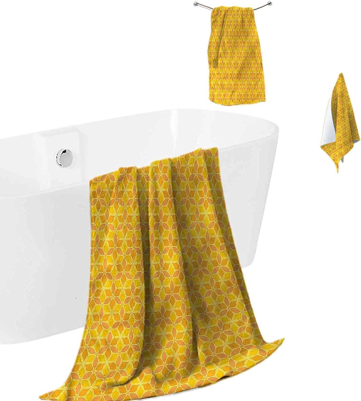 Bath Towels Soft and Plush Star Ranking TOP2 Yellow High quality Orange Ba Petals