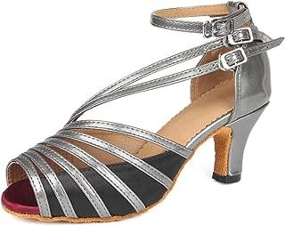 Dance Shoes for Women Satin Salsa Latin Tango Ballroom Dancing Class Shoes High Heels