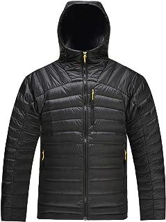 Hard Land Men's Puffer Down Jacket Packable Insulated Lightweight Hooded Winter Warm Puffer Coat