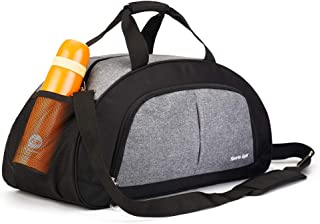 Sports Gym Bag for Men and Women with Shoes Compartment (Grey)