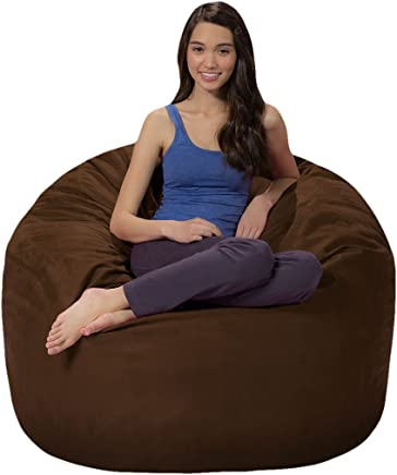 featured product Comfy Sacks 4 ft Memory Foam Bean Bag Chair,  Chocolate Microsuede