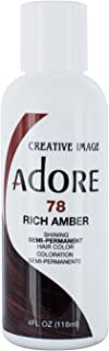 Adore Semi-Permanent Haircolor #078 Rich Amber 4 Ounce (118ml)