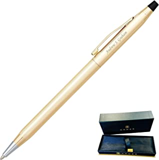 Dayspring Pens | Engraved/Personalized Cross Classic 10 Karat Gold Rolled Ballpoint Pen, Gift Award pen, Custom engraved in 1 day 4502