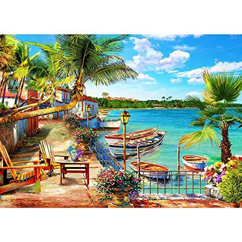 Puzle de 1000 piezas, clásico puzle de ensueño en la playa, vacaciones, paisaje, colorido puzle para adultos y niños a partir de 14 años