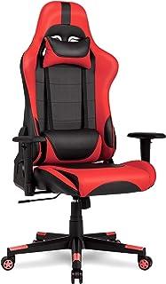 IntimaTe WM Heart Racing Chaise de Bureau En PU, Fauteuil siège Gaming avec inclinaison de 135° Appui-tête et Soutien Lomb...