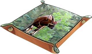 Vockgeng Animal Brun Boîte de Rangement Panier Organisateur de Bureau Plateau décoratif approprié pour Bureau à Domicile t...