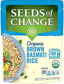 SEEDS OF CHANGE Organic Brown Basmati Rice 8.5 Ounce (Pack of 12)