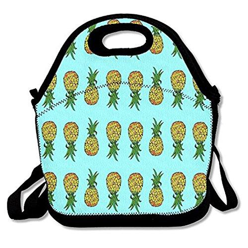 ZMvise Tiny Pineapples on Turquoise Les Sacs réutilisables Pique - Nique déjeuner Tote isolés boîtes Hommes Femmes Enfants Toddler infirmières Sac de Voyage