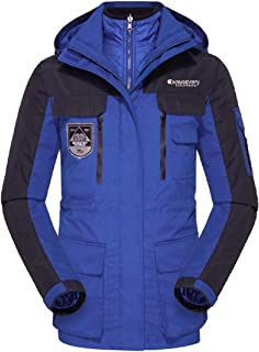 XINHEO Men Mid Long Water-Resistant Breathable Insulated Rain Jacket