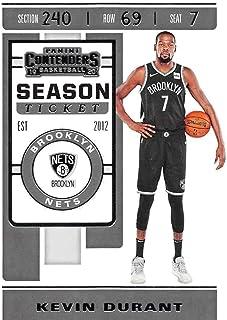 2019-20 Panini Contenders Season Ticket #57 Kevin Durant Brooklyn Nets NBA Basketball Trading Card