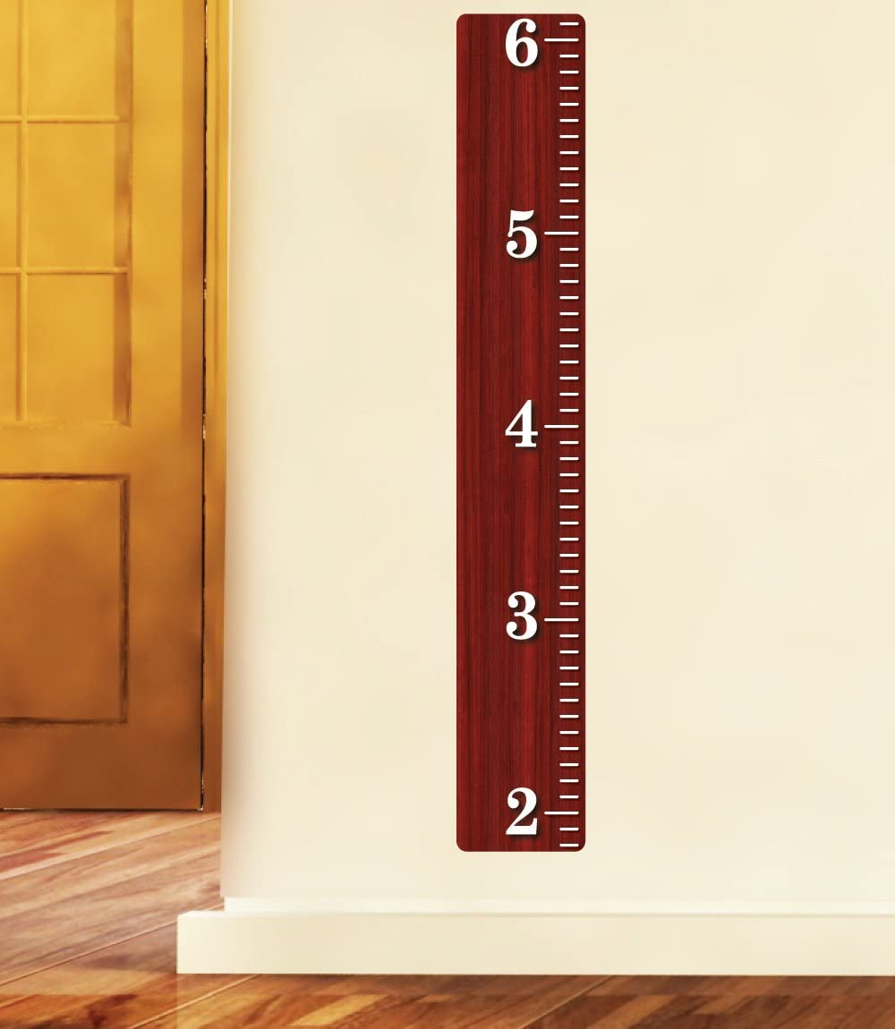 Austin Mall Nursery Decals and More Cherry Wooden Chart Wood Growth Bombing free shipping Ruler R