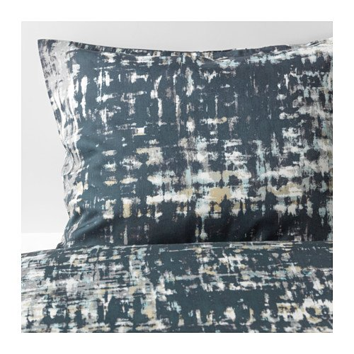 Ikea Skogslonn Full Queen Duvet cover and pillowcase Black Multicolor 103.375.15