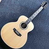 FKKLGNBDR Guitarra Sujeto Sólido Madera Superior Caoba Parte Posterior 12 Cuerdas 43 Pulgadas De Guitarra Eléctrica Acústica (Color : Acoustic, Size : 43 Inches)
