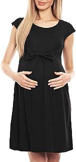 Pullover Lungo Premaman Vestito MAMI Abito Maternity D044 Verde Petrolio Tg 48