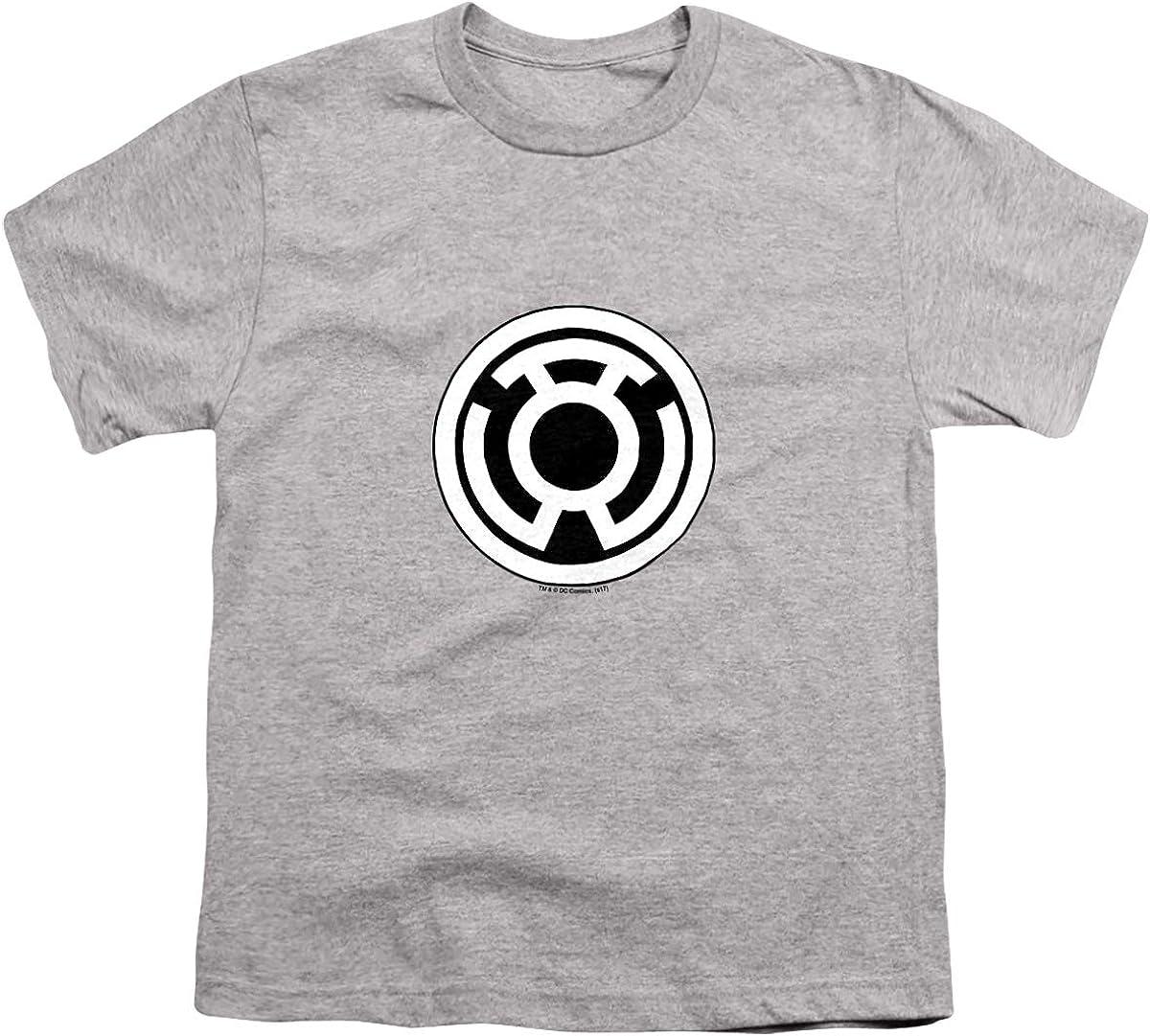 Green Lantern Sinestro Corps Logo Unisex Youth T Shirt, Athletic Heather, Small