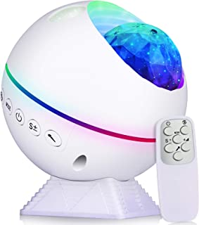 Perkisboby Galaxy Projector Star Projector, Night Light Projector with Remote Control, Nebula Cloud, Moon, Super Silent, 3...