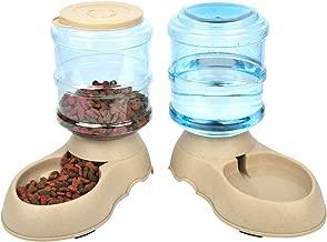 Comedero y Bebedero Automático para Gatos y Perros.1 Dispensador de Agua y 1 de Comida Antideslizantes de gran Capacidad (3,75L) para Mascotas. Materiales de gran calidad (2 piezas)
