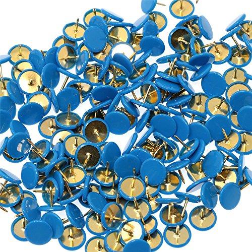 Lanxi® 300 piezas pulgar tachuelas aviso (azul)