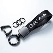 Genuine Leather Car Logo Keychain Suit for Audi A1 A3 A4 A5 A6 A7 A8 Q5 Q7 R8 S3 S5 Q3 RS Key Chain Keyring Family Present...