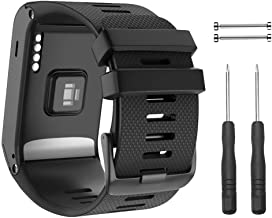 NotoCity for Garmin Vivoactive HR Strap, Soft Silicone Replacement Watch Band ONLY Compatible Vivoactive HR Sports GPS Smart Watch with Adapter Tools