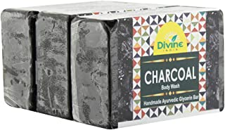 Divine India Charcoal Soap - 125 Gm (Pack Of 3)