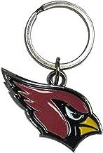 NFL Siskiyou Sports Fan Shop Arizona Cardinals Chrome & مطلي بالمينا سلسلة مفاتيح مقاس واحد ألوان الفريق
