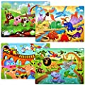 Puzzles for Kids Ages 4-8 Year Old 60 Piece Colorful Wooden Puzzles for Toddler Children Learning Educational Puzzles Toys for Boys and Girls (4 Puzzles)