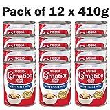 Nestle Carnation - Lata de postres con leche evaporada (12 unidades, 410 g)
