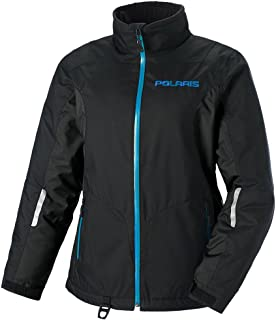 Polaris OEM Womens Stylish Insulated Durable Diva Jacket Snowmobile DWR - Black/Blue - XXX-Large