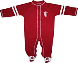 Creative Knitwear Indiana University Hoosiers Newborn Infant Baby Sports Shoe Footed Romper