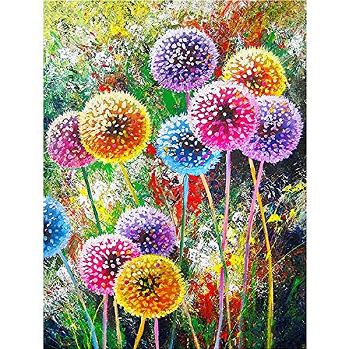 DIY 5D Diamante Pintura por Número Kit, Bricolaje Diamond Painting kit completo Bordado Punto de Cruz Diamante Craft Decoración del hogar (30x40cm) - Diente de león